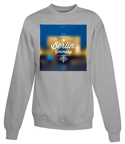 Billion Group | Greetings From Berlin | City Collection | Women's Unisex Sweatshirt Gris