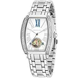 Morellato Time Women's Automatic Watch with White Dial Analogue Display and Silver Stainless Steel Bangle R0153120502