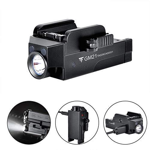TrustFire GM21 - Luz LED para pistola (510 lúmenes, recargable, con riel ajustable, montaje de liberación rápida para Glock, Springfield, Sig Sauer)
