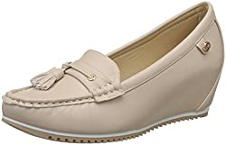 Carlton London Womens Sameria Beige Loafers - 5 UK/India (38 EU)(CLL-4245)