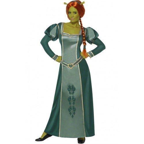 Fiona Disney Prinzessin Lange Volle Länge Fantasie Kostüm Outfit - Grün, 44-46 (Disney-kostüme Für Frauen)