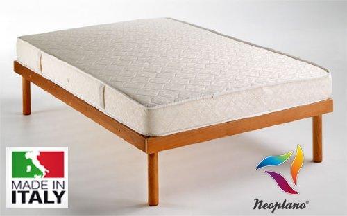 NEOPLANO Materasso Matrimoniale Ortopedico Due Piazze 160 x 190 cm Anallergico Anti-Acaro Aerato - Water Foam by