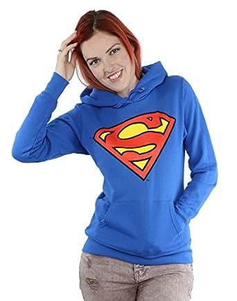 Donne - Official - Superman - Felpa Con Cappuccio (XXL)