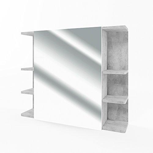 *VICCO Spiegelschrank FYNN 80 cm – Badezimmer-Spiegel Hängespiegel Badspiegel Badezimmerspiegel (Beton)*