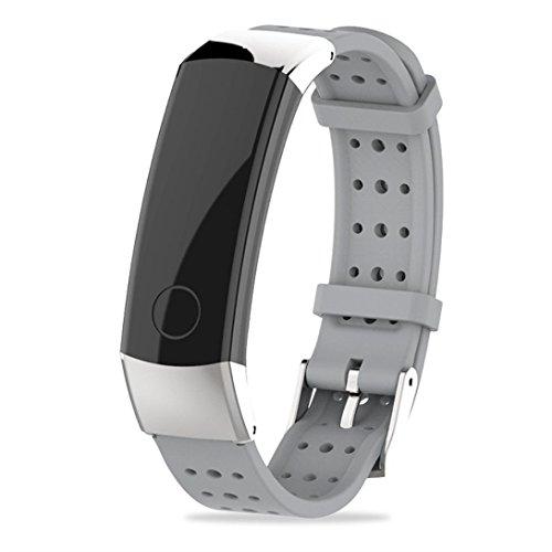 squarex New Fashion Sport Silikon Armband Gurt Band für Huawei Honor 3Smart Watch, damen, grau, AS Show