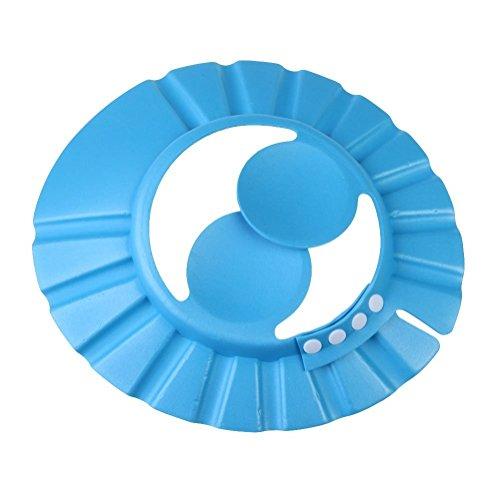 God Gift Baby Bath Adjustable Bath Shower, Shampoo Visor Cap(Blue)