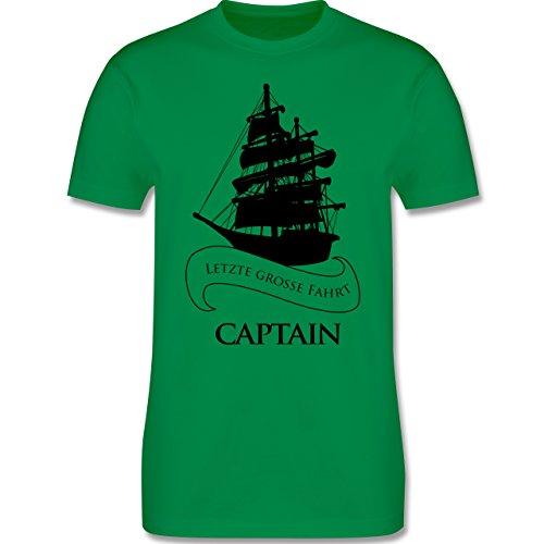 JGA Junggesellenabschied - Captain Letzte große Fahrt - Herren Premium T-Shirt Grün