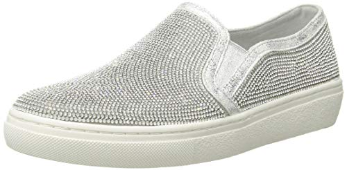 Skechers Donna Goldie-Flashow. S Tonale Strass Slip On Sneaker - SIL, 10 M USA