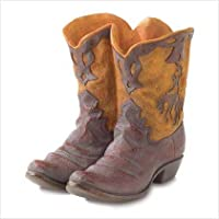 Gifts & Decor Western Theme Garden Decor Cowboy Boot Planter Outdoor by Furniture Creations
