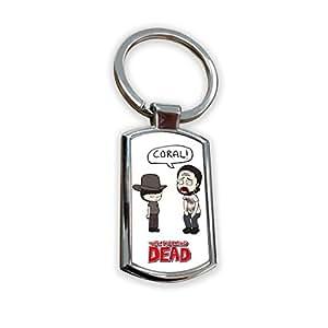 The Walking Dead Zombie TV Usa Show Keyring Metal key ring keychain bag tag fob