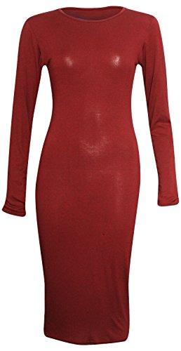 Candid Styles Damen Kleid Rot - Rouge - Bordeaux