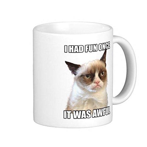 Divertente design a forma di tazza da tè/caffè Grumpy Cat tazza