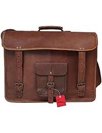 Bag House , Vintage Leather Messenger Soft Leather Briefcase Satchel Leather 13 Inch Laptop Messenger Bag For...