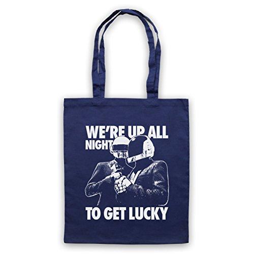Inspiriert durch Daft Punk Get Lucky Inoffiziell Umhangetaschen Ultramarinblau