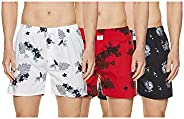 Longies Men's Regular Printed Boxer Sh
