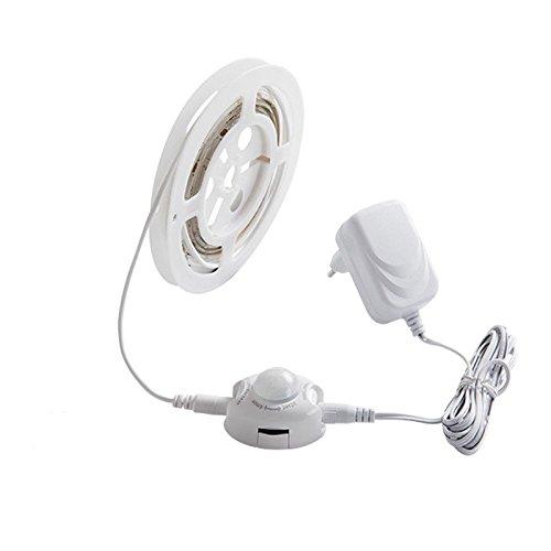 Bewegung aktiviert LED Stripe Set mit Sensor Bewegungsmelder Nachtlicht Stripes Lichterkette Band Streifen Leiste Lichtleiste Bänder