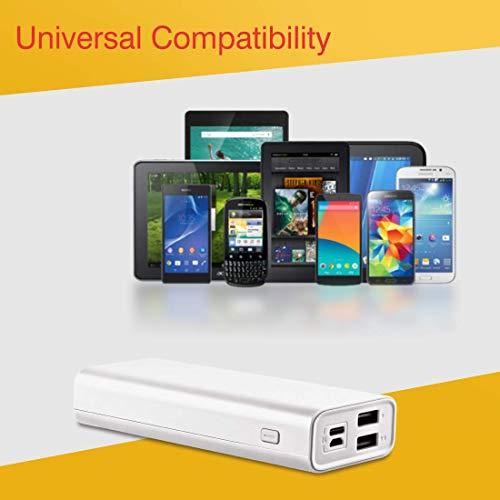 iBall 10000mAh Li-Polymer Slim Design Smart Charge Powerbank - LPS 10000 (White) Image 6