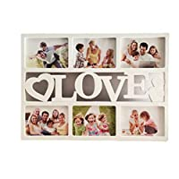 Garneck Collage Picture Frame Love Photo Frame Displays Six 6 inch Pictures