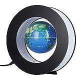 Globe magnétique à lévitation - Globe rond oscillant électronique - avec éclairage LED - Écran Home Office(Bleu)