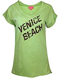 Venice Beach Damen T-Shirt Lime Green Gulam 121-13201-00