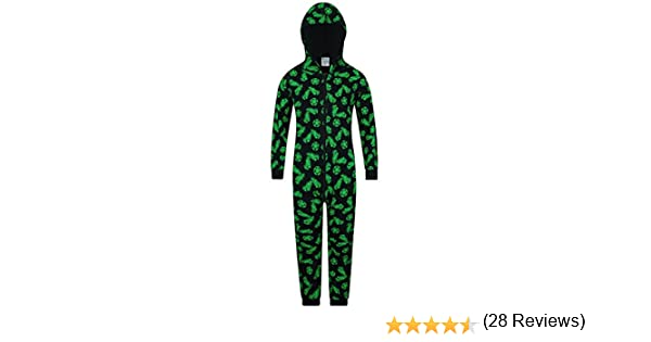 motivo scarpe e palloni da calcio The PyjamaFactory Pigiama intero in 100/% cotone