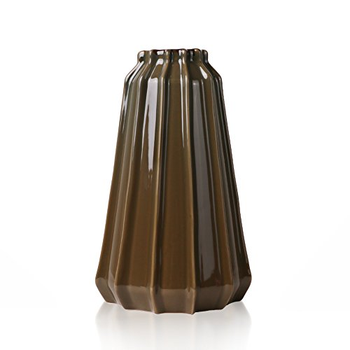 Hannah\u0027s Cottage Vase Keramik Blumenvase, 23.5cm Dunkelbraun Handgemachte  Moderne Dekorative Porzellan
