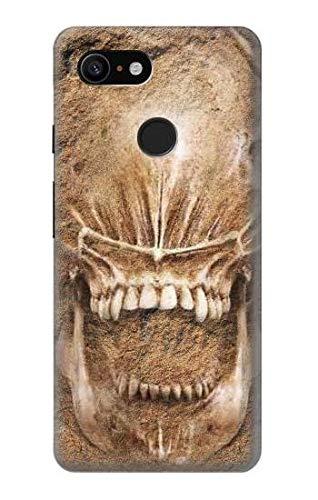 Innovedesire Alien Skull Fossil Hülle Schutzhülle Taschen für Google Pixel 3