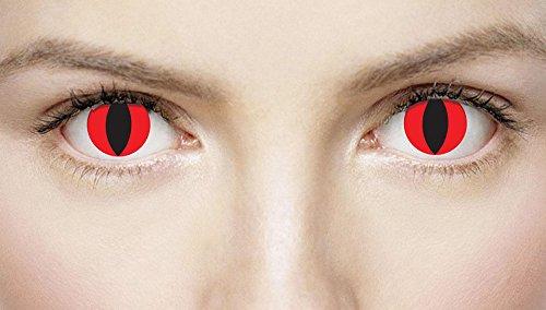 Xtreme Eyez Lens. 1 Day. Devil costume Kids Fancy (Ideen Fancy Childrens Dress)