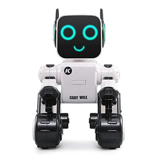 Teepao Remote Control RC Robot, Robot Giocattolo sensoriale Gesto, Balla, Parla e Canta insegna Scienza Robot Intelligente per Bambini White