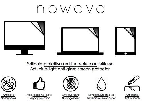 NOWAVE Pellicola protettiva opaca anti luce blu per monitor PC/LAPTOP/PORTATILI