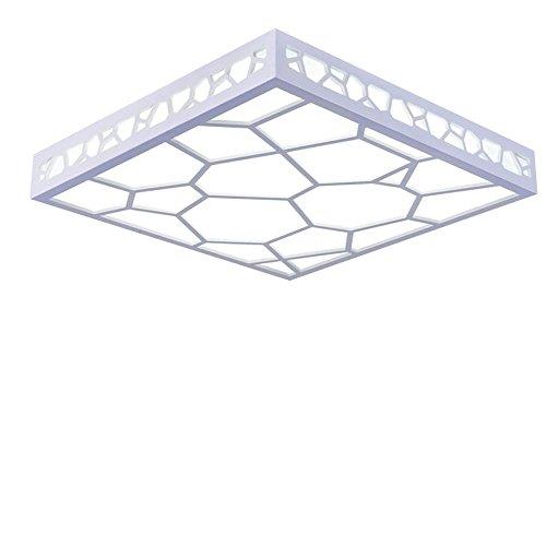 Quadratische Decke Diffusor (Lonfenner Einfache LED Decke Lampe helles Wohnzimmer Lampe Schlafzimmer modernes und warmes Restaurant, quadratische Wasser Cube Lampen Alec studieren Lampe Deckenleuchte (45cm 10cm) , Cool white Light)
