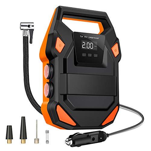 Trayousin Elektrischer Kompressor Auto Luftpumpe 12V Digital Geeicht Typ Luftpumpe Auto-Absperrung 150PSI mit LED-Bildschirmanzeige