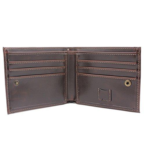 Boshiho ,  Jungen Herren Herren-Geldbörse Braun schokoladenbraun (Gucci Wallet Card)