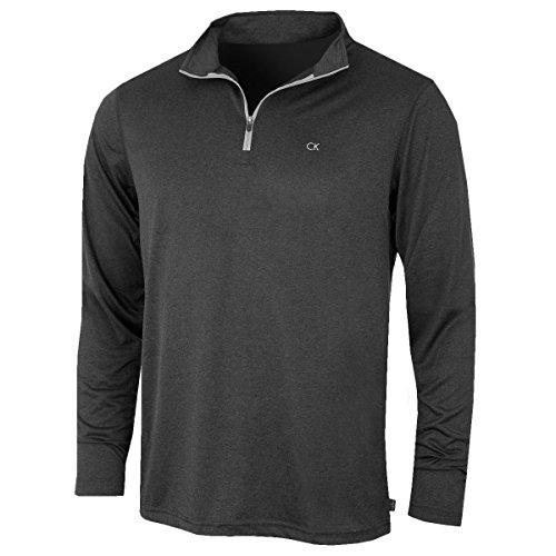 Calvin Klein Golf Mens Harlem 1/4 Zip Pullover - Grey Marl - L