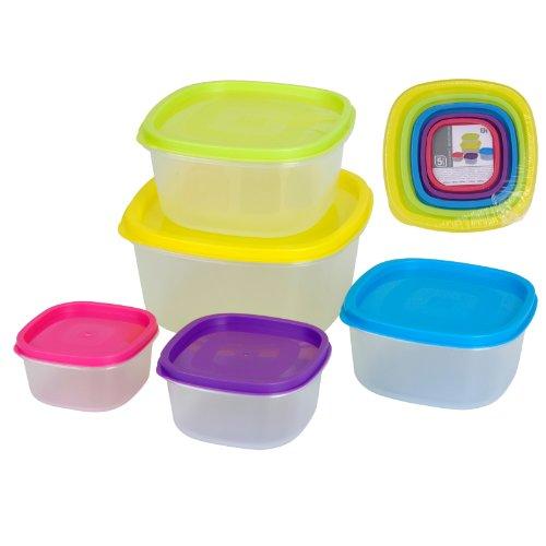 Ausgezeichnet Haushaltsartikel 5 Stück Aufbewahrungsboxen Re verschließbaren Nahrungsmittelbehälter