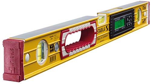 STABILA Elektronik-Wasserwaage TECH 196 electronic IP 65, 61 cm, mit 2 Digital-Displays und Wasserwaagen-Tasche -