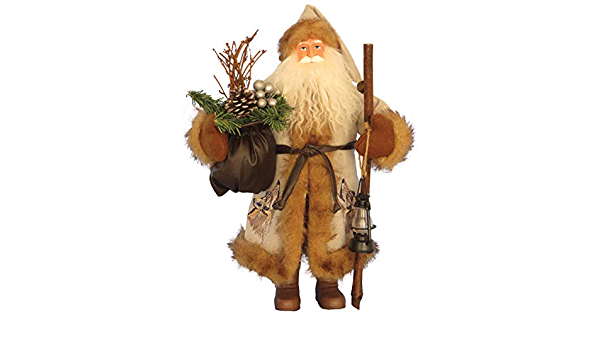 Santa S Workshop Call Of The Wild Claus Figurine 15 Tall Tan Brown Amazon In Home Kitchen