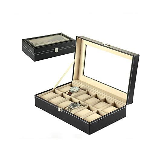 12 Uhr Display Box Aufbewahrungsbox Kissenbezug PU Leder Rand Hochwertig Versilbert Knopf (Dekorieren Sie Einen Kissenbezug)