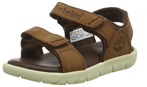 Timberland Kinder Sandalen (Timberland Unisex-Kinder Nubble Leather 2-Strap Sandalen, Braun (Cappuccino Aia), 26 EU)