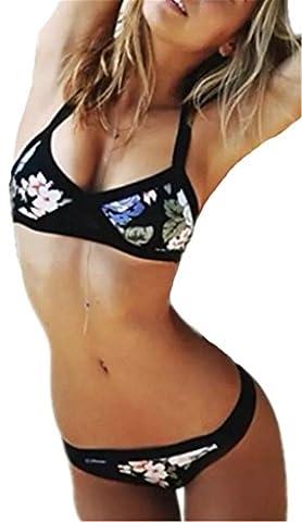 Damen Bademode Push Up Bikini Set Spalte-Badeanzug-Bikini Sexy Bademode Triangel Badeanzug Modern Print Bodyformer Unterwäsche Hot