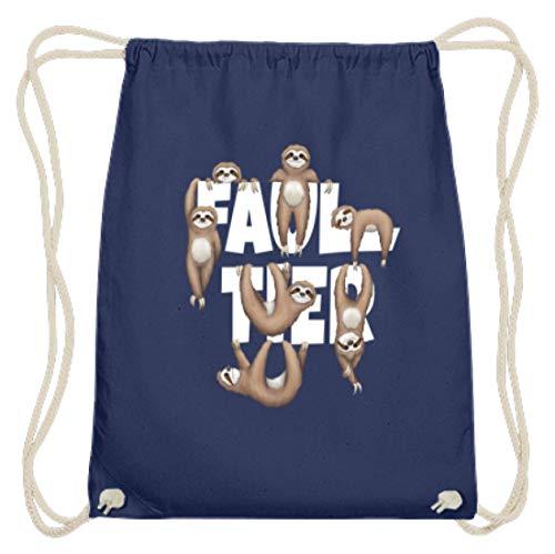 Faultier! Jede Menge coole chillige lässige Faultiere für echte Faultier Fans & Faulenzer - Baumwoll Gymsac -37cm-46cm-Marineblau (Bekleidung Fauler)