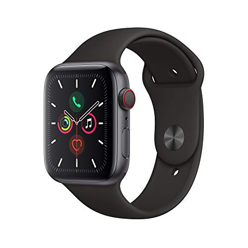 Apple Watch Series 5 (GPS + Cellular, 44mm) - Space Gray Aluminium Case with Black Sport Band