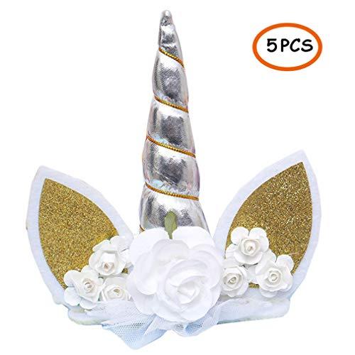 er Normale Größe Unicorn Cake Topper ohne Wimpern, niedlichen Einhorn Geburtstag/Baby Shower/Urlaub Party Kuchen Dekoration ()