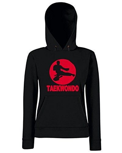 T-Shirtshock - Sweats a capuche Femme TAM0171 taekwondo hooded Sweats Noir