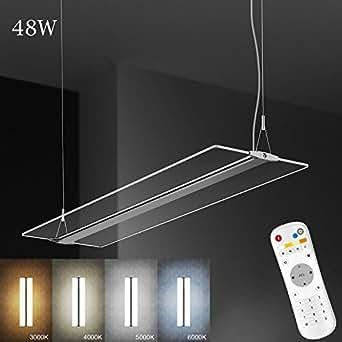 Led lampadario sospeso moderni lampadari materiale acrilico lampada di pannello in tessuto per - Lampada a sospensione per tavolo pranzo ...