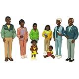 "Miniland 27396 - Set de 8 figuras ""Familia africana"", 12,5 cm"