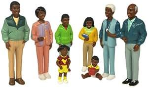 """Set De 8 Personnages, """"la Famille Africaine"""" [Jouet]"""