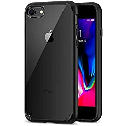 Spigen Coque Compatible avec iPhone 8/7 [Ultra Hybrid 2eme Generation] - Noir