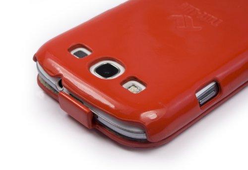Tuff-Luv Tuff-Grip Custodia in similpelle per Apple iPhone 5 / 5s (con protettore di schermo) - nero Red