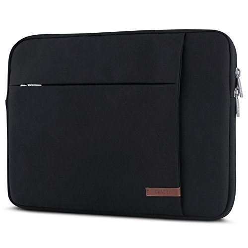 CASEZA Laptophülle 13-13.3 Zoll Schwarz London Laptop Sleeve Laptoptasche Hülle für MacBook Air 13